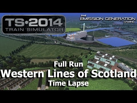 Western Lines Of Scotland Full Run - Time Lapse - Train Simulator 2014
