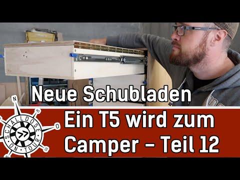 Umbau #12: Ein VW T5 wird zum Camper || neue Schubladen und der Tisch || SCHALLDOSE ON TOUR