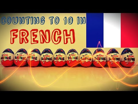 Counting to 10 in french language