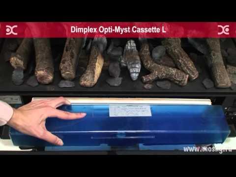Cassette L Очаг Dimplex Opti-Myst. Видео 2