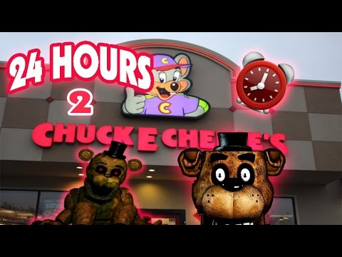 (HAUNTED!) 24 HOUR OVERNIGHT In CHUCK E CHEESE FIVE NIGHTS AT FREDDY'S | FREDDY FAZBEAR FOUND!