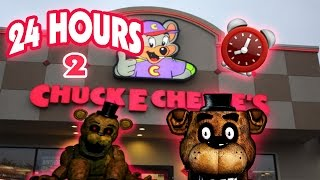 (HAUNTED!) 24 HOUR OVERNIGHT in CHUCK E CHEESE FIVE NIGHTS AT FREDDY
