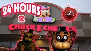 (HAUNTED!) 24 HOUR OVERNIGHT in CHUCK E CHEESE FIVE NIGHTS AT FREDDY'S | FREDDY FAZBEAR FOUND!