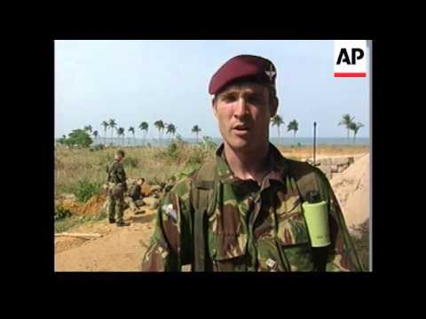SIERRA LEONE: FREETOWN: BRITISH TROOPS