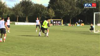 Raheem sterling goals - u21 england training 10-10-12
