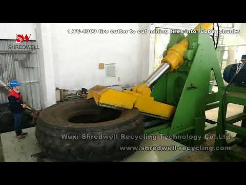 OTR Tyre Recycling Process - Mine Tire Shredding Plant- SHREDWELL OTR Tire Recycling Solution