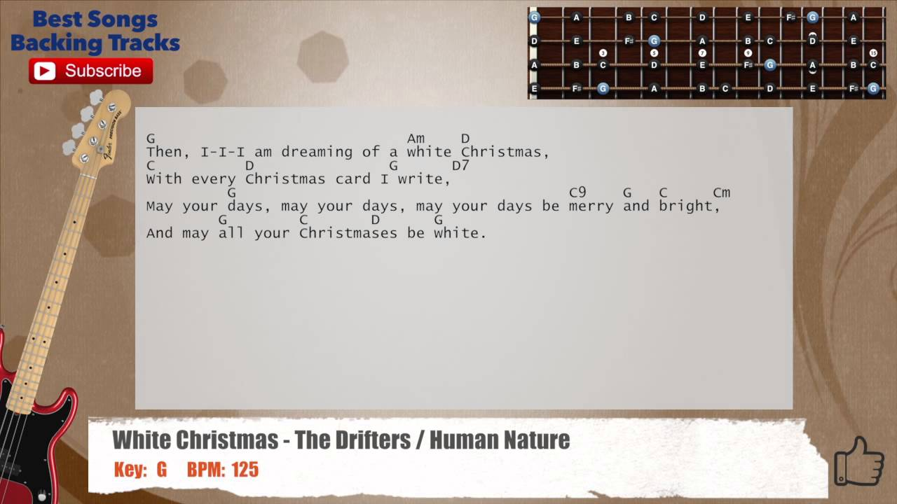 White Christmas - The Drifters / Human Nature Bass Backing Track ...