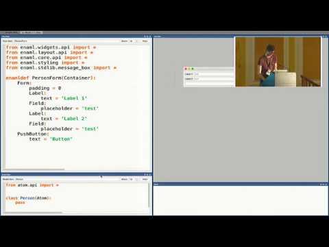 Pycon UK 2016: Declarative user interfaces in Python using ENAML