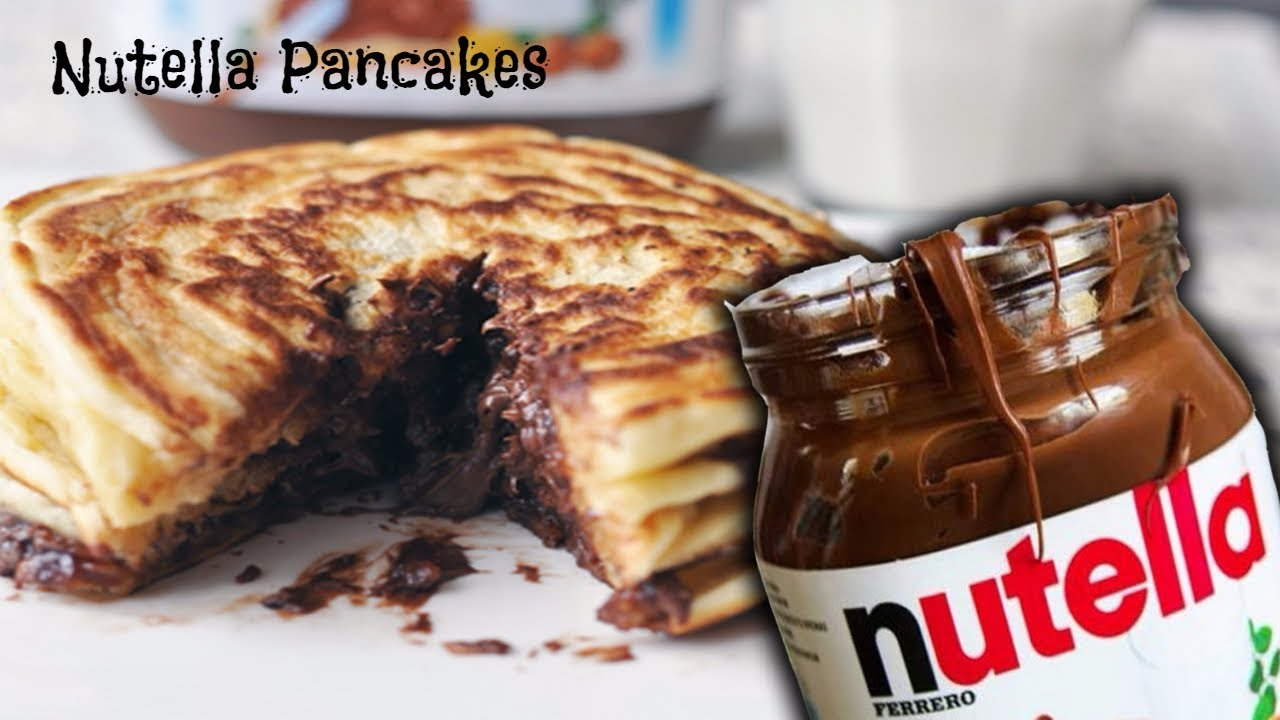 Nutella Pancakes Recipe - चॉकलेट पैन केक - Choclate stuffed pancake - Eggless Pancake Recipe