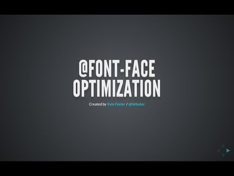 On @font-face Optimization