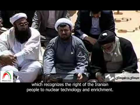 [English sub]. IRIB report.  Rouhani in Sistan and Baluchestan Province and receives a warm welcome.