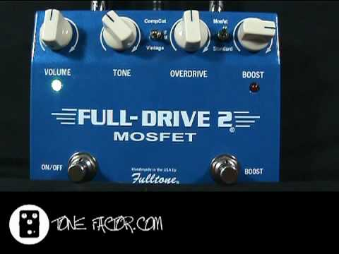 fulltone full drive 2 mosfet two stage overdrive youtube. Black Bedroom Furniture Sets. Home Design Ideas