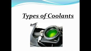 Different Types of Coolants
