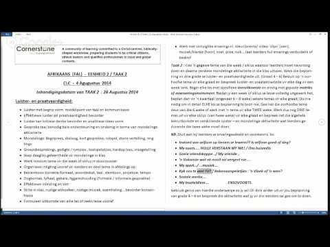 Afrikaans FAL (ED4-EDAFR1B) 4 August 2014