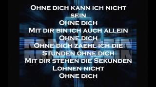 Rammstein - Ohne Dich Lyrics