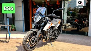 2020 KTM ADVENTURE 390 BS6 DETAILED REVIEW  MILEAGE  PRICE  TOP SPEED  EXHAUST