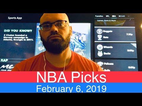 NBA Picks (2-6-19) | Basketball Sports Betting Expert Predictions | Vegas Odds | February 6, 2019