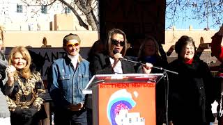WOMEN'S MARCH SANTA FE  2019 – SANTA FE PLAZA – Welcome Introduction Patricia Trujillo
