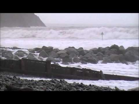 High Tide in Borth - 4th January 2014