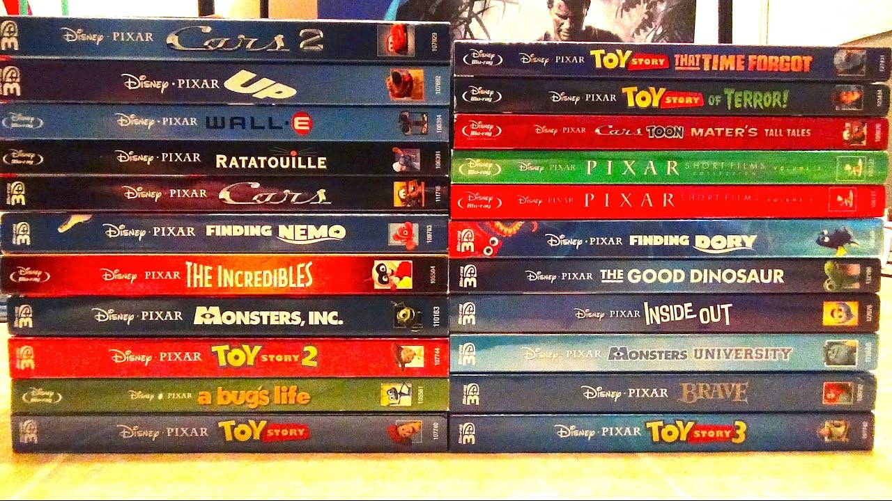 My Complete Disney/Pixar Blu-Ray Collection - 2016 Update