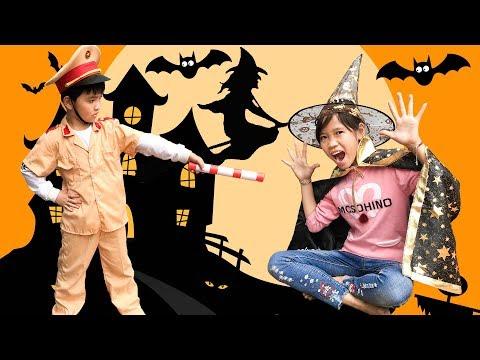 Trò Chơi Mụ Phù Thủy Độc Ác Và Cảnh Sát Tốt Bụng ♥ Min Min TV Minh Khoa