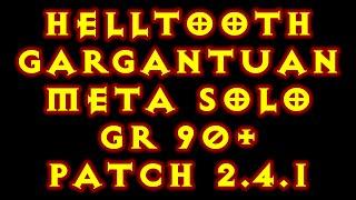 Diablo 3 WD Helltooth Gargantuan Build GR 90+ patch 2.4.1