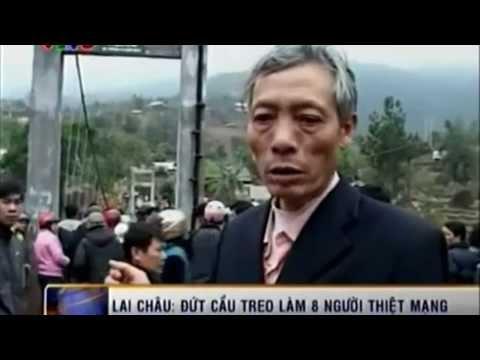 Sập cầu treo ở Lai Châu khiến 8 người chết và gần 48 người thương vong