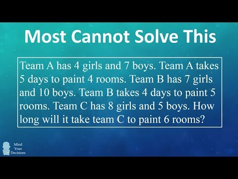 Can You Solve The Boys And Girls Painting Rooms Riddle?