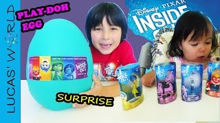 Inside Out Movie: Little Baby opens Giant INSIDE OUT Play-Doh Egg with Inside Out Surprise Toys!