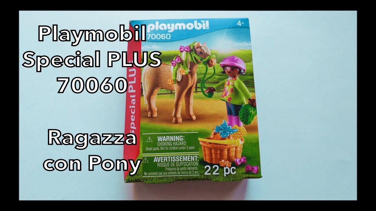 playmobil 70060 ragazza con pony special plus  youtube
