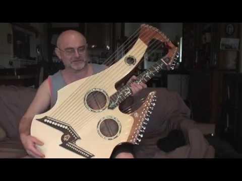Lyndon Kriss' harp guitar by Sandy Richards, Richards Guitars Ballarat