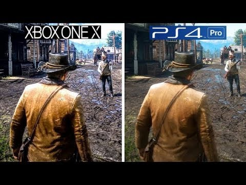 Red Dead Redemption 2 | Xbox One X VS PS4 Pro | Graphics ...Ps4 Pro Graphics Vs Xbox One X