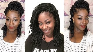 Shoulder Length Crochet Box Braids {Zoey Braid Model Model}