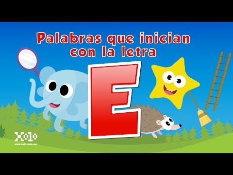 Words that start with the letter E in Spanish for children