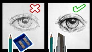 COMO DIBUJAR REALISTA | how to draw realistic | COMO SACAR LA PUNTA A TU LAPIZ