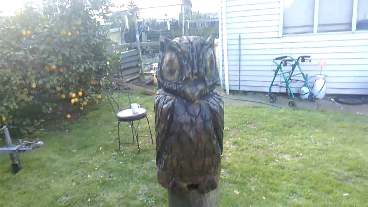 Owl diy man glens st chainsaw carving youtube