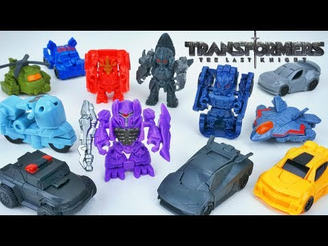 TRANSFORMERS THE LAST KNIGHT TINY TURBO ONE STEP CHANGERS WAVE SERIES 2 SHOCKWAVE HOT ROD SQUEEKS