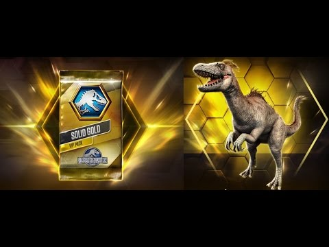 Jurassic World: The Game - SOLID GOLD PACK - TANYCOLAGREUS - Level 20 Evolution + 1st Battle