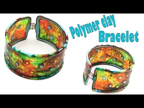 polymer clay bangle bracelet tutorial