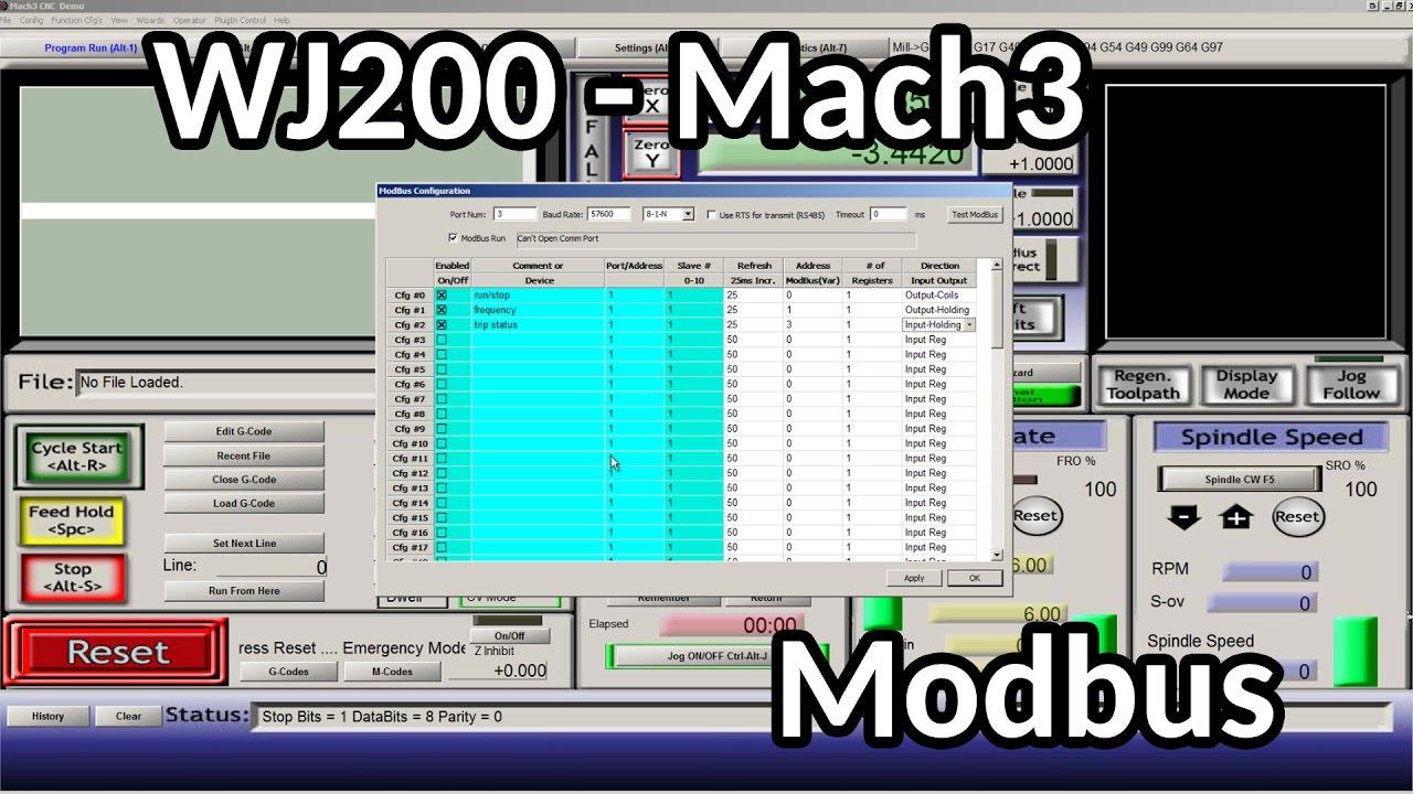 Wj200 Mach3 Modbus Troubleshooting Youtube Vfd Wiring Diagram