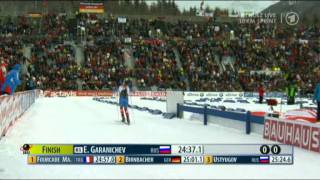 Биатлон Антхольц 2012 Гараничев победил Мартына Фуркада