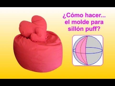 C mo hacer un molde para sill n puff cl sico youtube - Como rellenar un puff ...