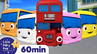 10 Little Buses | +More Nursery Rhymes for Babies | ABCs and 123s | Little Baby Bum