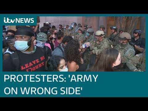 US military on frontline of racial conflict as protests continue | ITV News