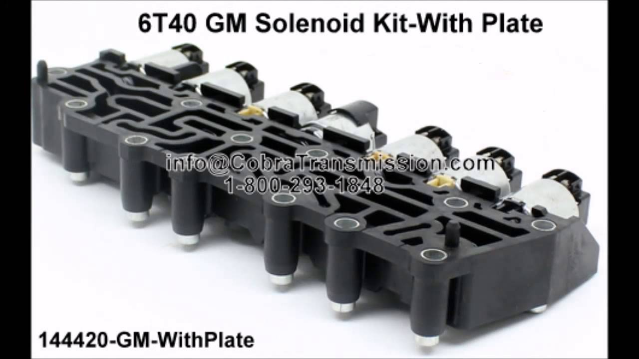 144420 gm with plate 6t40 solenoid kit youtube rh youtube com 4T65E Pressure Control Solenoid Transmission Control Valve Body