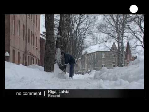 Historic snowfall in Latvia