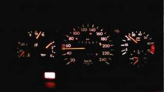 Mercedes E200 W124 A124 Cabrio Umbau M111 230 Kompressor Remus Innengeräusch 50-175.MP4
