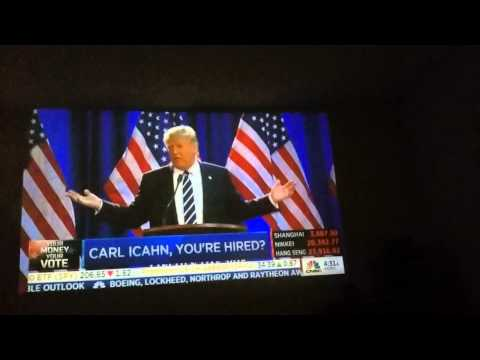 Donald Trump to put Carl Icahn in charge of China