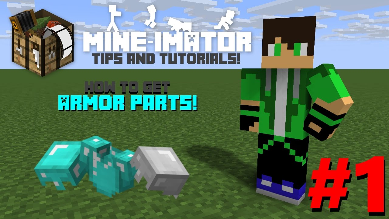 Mine Imator Tips Tutorial 1 How Get Armor Parts
