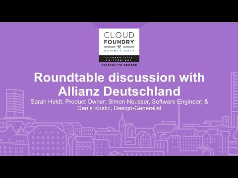 Roundtable discussion with Allianz Deutschland - Sarah Heldt, Simon Neusser, & Denis Kostic